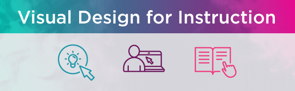 Visual Design for Instruction text with learning icons