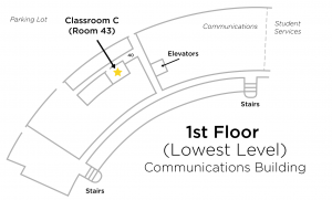 Map to Classroom C in Communications Building