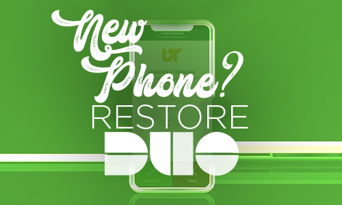 Restore Duo to your new phone