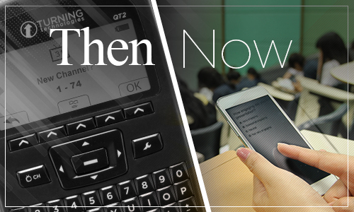 Clickers in the classroom what they looked like back then and now