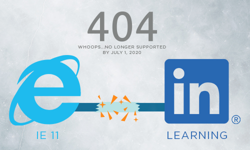 Internet Explorer logo, broken link and LInkedIn Logo
