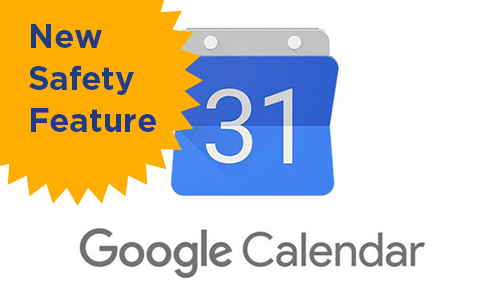 Google calendar has new safety features