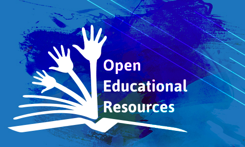 Open Educational Resources logo on washed background