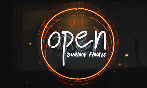 OIT is open during finals