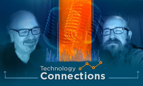 Photo of two OIT Staff members and Technology Connections logo