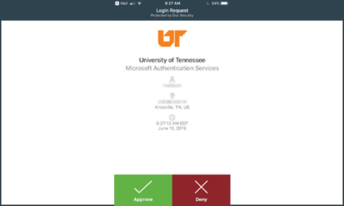 Two Factor Authentication Screen for Email and Online Apps