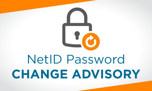 Net ID password change advisory