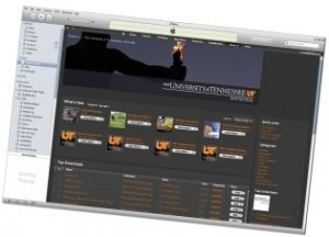 iTunes U interface