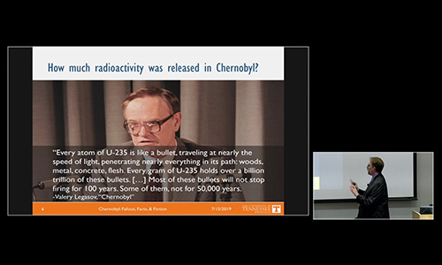 Associate Professor Steve Skutnik Responds to HBO hit show, Chernobyl. OIT provided the webcast.