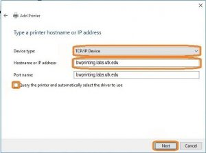 Installing the OIT BW wireless print queue for Windows 10 | Office